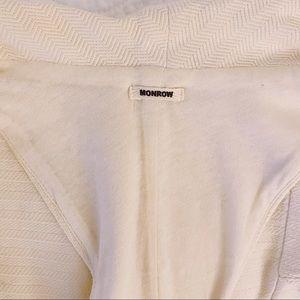 Monrow Jackets & Coats - Monrow Ivory Cotton Textured Vest